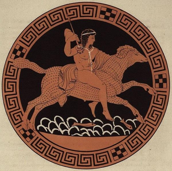 Фрикс. Рисунок на античной вазе