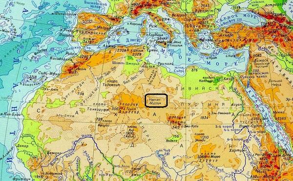 Идехан-Марзук на карте