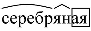 Разбор слова Серебряная по составу