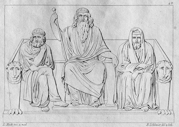 Аид, Минос и Радамант