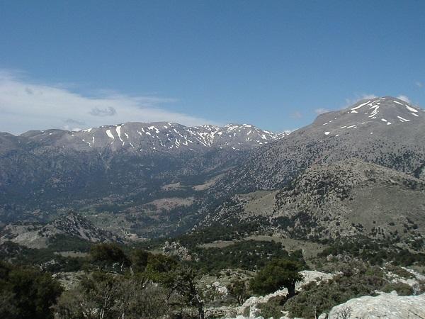 Горы Дикти на острове Крит