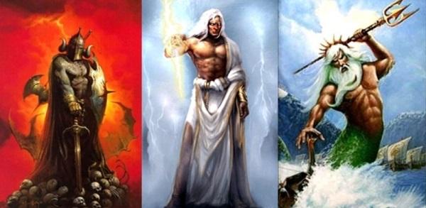 Зевс, Посейдон и Аид