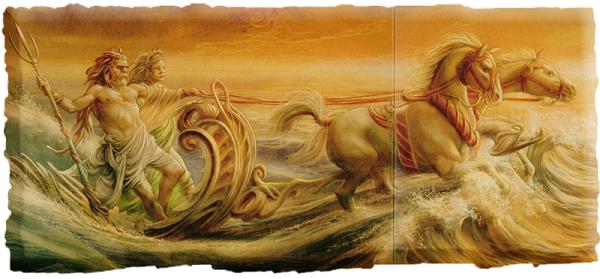 Посейдон с Амфитритой в колеснице