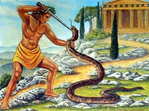 Аполлон, поражающий Пифона