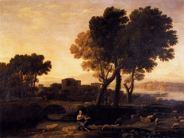 Клод Лоррен - Пейзаж с Аполлоном и Меркурием