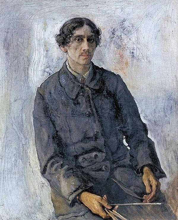 Исаак Бродский - Автопортрет, 1914