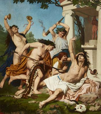 Смерть Орфея - Эмиль Бен, 1874