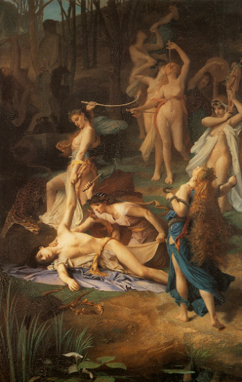 Смерть Орфея - Эмиль Леви, 1866
