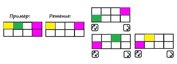 Цветные карточки - 2 класс - шаг 1