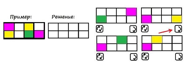 Цветные карточки - 4 класс - шаг 1