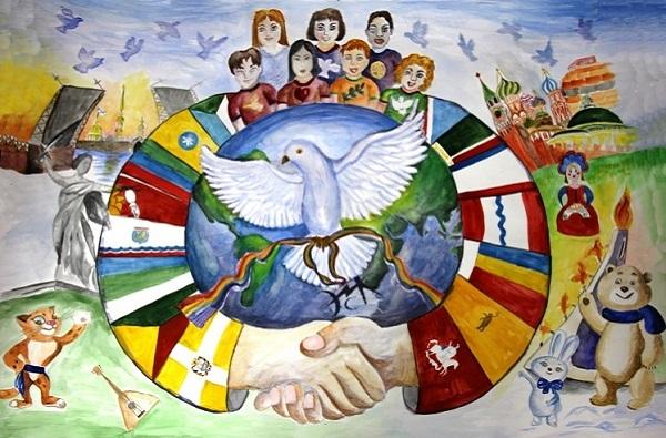Детский рисунок к Дню народного единства