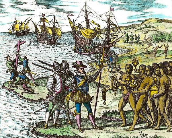 Экспедиция Х. Колумба достигал берегов Америки