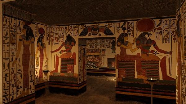 Росписи в гробнице Нефертити