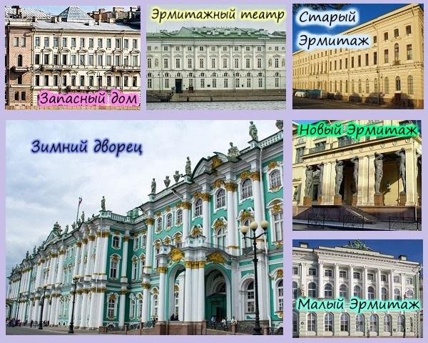 6 зданий Эрмитажа