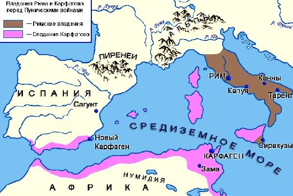 Рим и Карфаген накануне войны