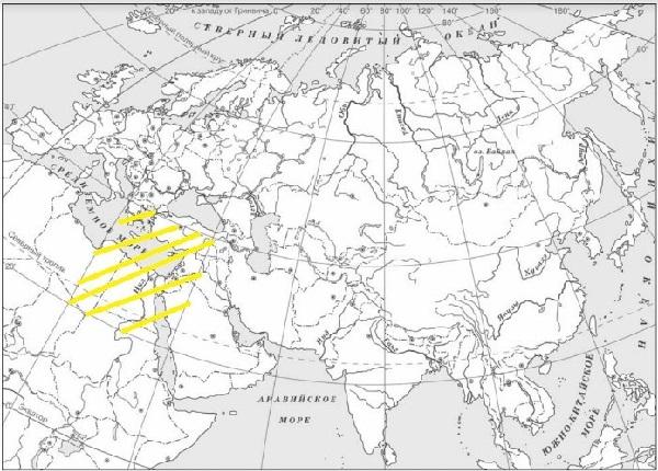 Древний Египет на карте Древнего мира